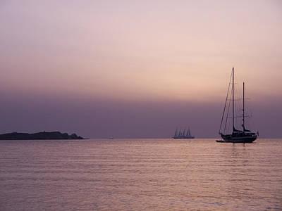 Photograph - Pink Sunset Off Mykonos by Brenda Kean