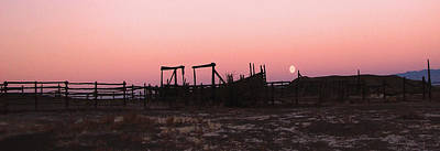 Pink Sunset Over Corral Art Print