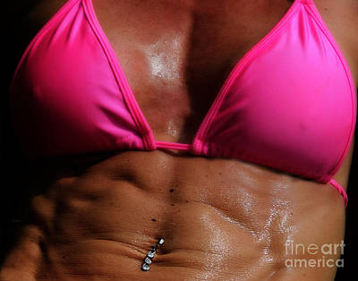 Muscular Digital Art - Pink Sweat by Steven  Digman