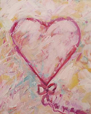 Pink Sweet Heart Original by Carol Suzanne Niebuhr