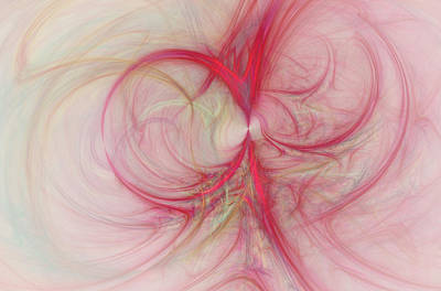 Bold Digital Art - Pink Swirls by David Ridley