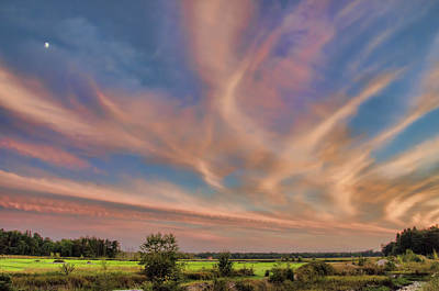 Photograph - Pink Swoosh Of Clouds by Beth Sawickie