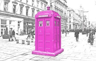 Pink Tardis  Print by Rob Hawkins