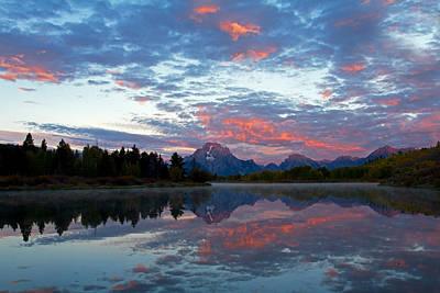 Photograph - Pink Teton Morning Reflection by Shari Sommerfeld