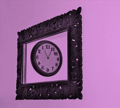 Photograph - Pink Time Frame by Rob Hans