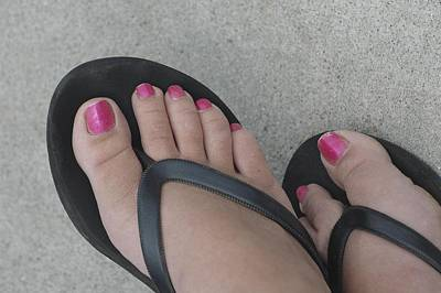 Photograph - Pink Toes by Paul Miller