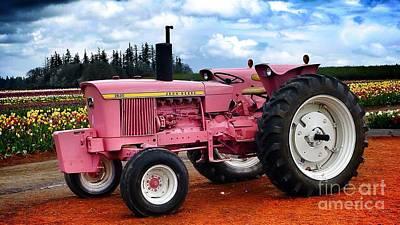 Photograph - Pink Tractor Deere  by Susan Garren