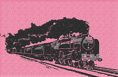 Digital Art - Pink Train by Kristy Jeppson