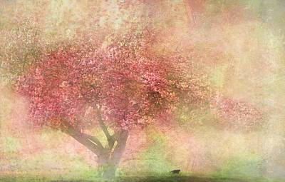 Flora Mixed Media - Pink Tree by Heike Hultsch