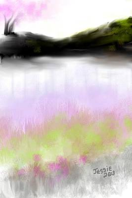 Painting - Pink Tree Series Number Four by Jessica Wright