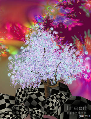 Pink Tree Art Print by Susanne Baumann