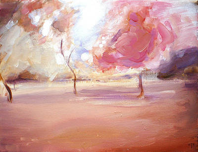 Painting - Pink Trees by Tanya Byrd