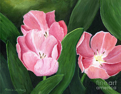 Painting - Pink Tulips by Maria Williams