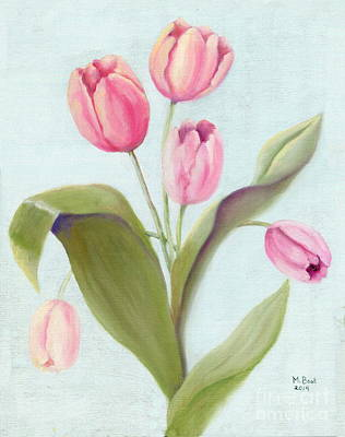 Painting - Pink Tulips by Marlene Book