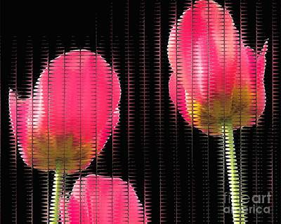 Abstract Photograph - Pink Tulips Mosiac by Scott Cameron