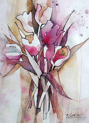 Drips Painting - Pink Tulips by Wendy Westlake