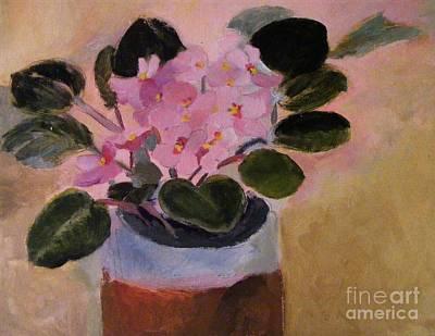 Pink Violets Art Print