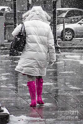 Digital Art - Pink Walk by Susan Cole Kelly Impressions