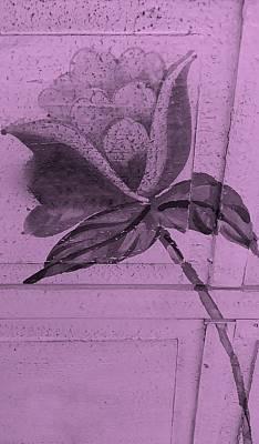 Pink Wood Flower Art Print by Rob Hans