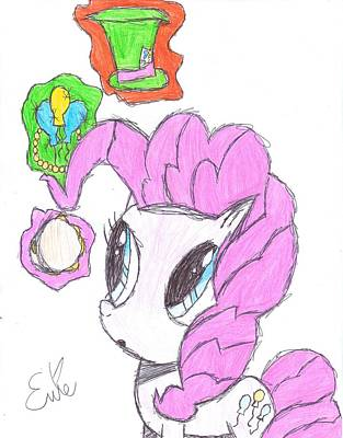 My Little Pony Drawing - Pinkie Pie Finds The Magic In Her by Rhapsody Forever