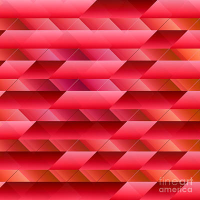 Pinkish Red Abstract Art Print