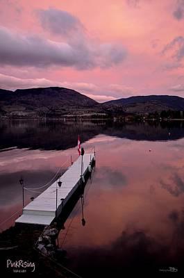 Photograph - Pinkrising - Skaha Lake 4-7-2014 by Guy Hoffman