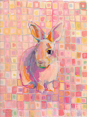 Checkered Painting - Pinky by Kimberly Santini