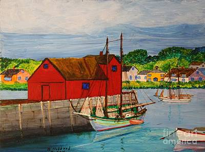 Painting - Pinky Schooner Maine At Motif 1 by Bill Hubbard