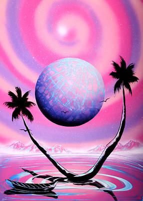 Spraypaint Painting - Pinky Spiral by Ronny Or Haklay