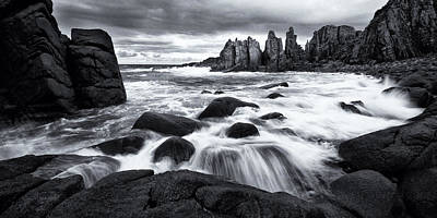 Photograph - Pinnacle Morning Monochrome by Tim Nichols