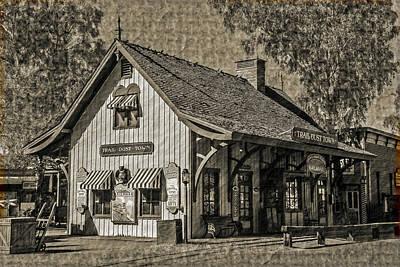Art Print featuring the mixed media Pinnacle Peak Trail Dust Town by Elaine Malott