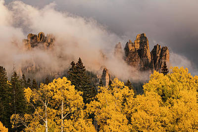 San Juan Mountains Photograph - Pinnacles At Owl Creek Pass At Sunset by Adam Jones
