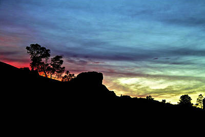 Photograph - Pinnacles National Monument At Sunset by SC Heffner