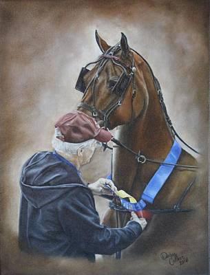 Pinning The Winner Art Print by Debra Reiber