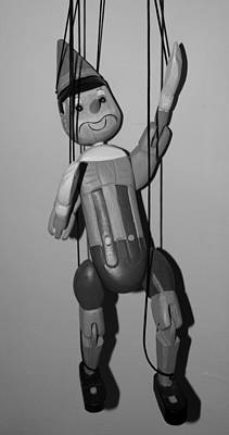 Photograph - Pinocchio In Black And White by Rob Hans