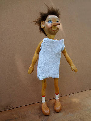 Sculpture - Pinocchio Jr. In Sack Cloth by David Wiles