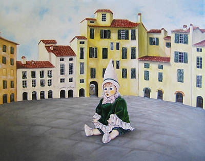 Painting - Pinocchio - Memory Of Tuscany by Junko Van Norman