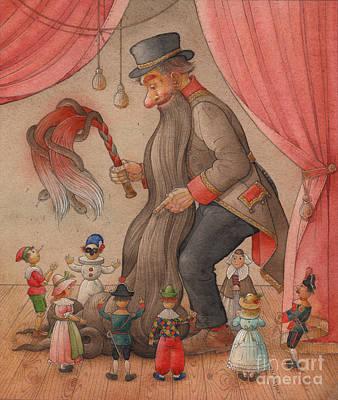 Theatre Drawing - Pinocchio02 by Kestutis Kasparavicius
