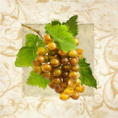 Pinot Gris II Art Print by Lourry Legarde