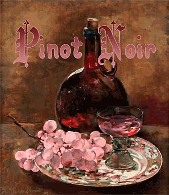 Pinot Noir Digital Art - Pinot Noir Vintage Advertisement by