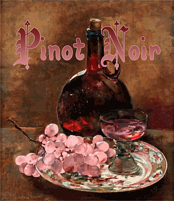 Pinot Digital Art - Pinot Noir Vintage Advertisement by