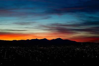 Pintler Sunset  Art Print by Kevin Bone