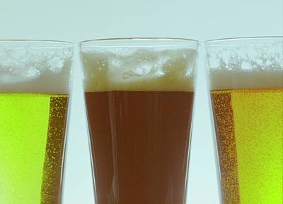 Alcoholic Drink Photograph - Pints Of Beer by Romulo Yanes