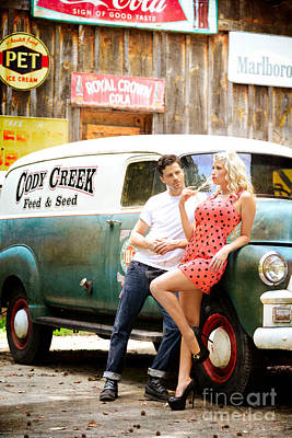 Hot Creek Photograph - Pinup Flirt by Jt PhotoDesign