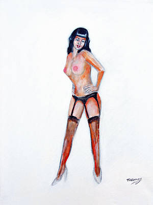 Painting - Pinup Girl by Tom Conway