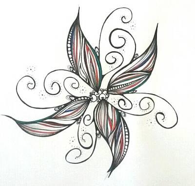Lori Thompson Drawing - Pinwheel by Lori Thompson