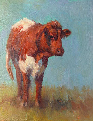 Painting - Pinzgauer Heifer by Susan Williamson