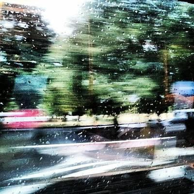 Expressionism Wall Art - Photograph - #pioggia #abstract #rain #astratto by Andrea Zampedroni