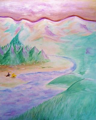 Greenworldalaska Painting - Pioneer       Being The Earliest  Original  First Of A Particular Kind by Cory Green