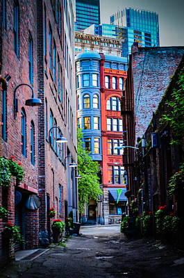 Pioneer Building Through The Alley Art Print by Brian Xavier